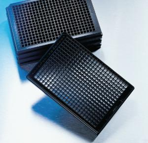 Clear bottom, black and white, polystyrene microplates, 384-well