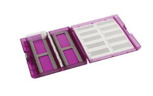 VWR® premium plus slide box, purple