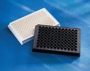 Solid black and white microplates, 96-well