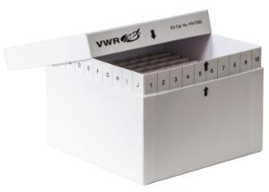 Cryoboxes, cardboard, 136×136 mm, with full labelling