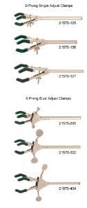 Clamps, three-pronged, VWR® Talon®