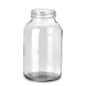 Bottle, wide neck, clear, 1000 ml GL68 without screw cap