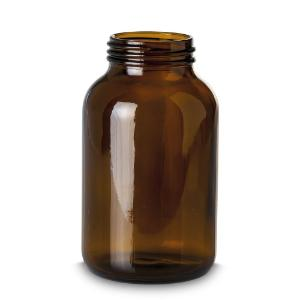 Bottle, wide neck, amber, 1000 ml GL68 without screw cap