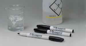 Irradiated IPA resistant lab marker