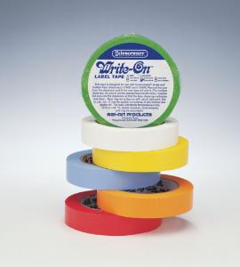 Labelling tapes, rainbow pack, Write-On™, SP Bel-Art