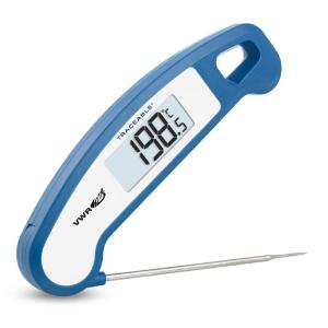 Rapid response stainless steel folding thermometer