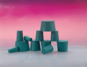 Stoppers, neoprene, green, without holes