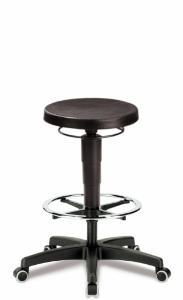 Laboratory stool, extra large seat (Ø 350 mm)