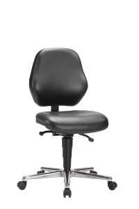 Laboratory chair, made from black skai