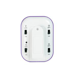 Single channel electronic timer with triple alarms, back side