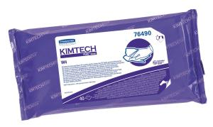 Cleanroom wipes, pre-saturated, sterile, KIMTECH PURE* W4