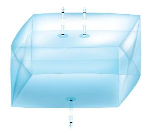 Avantor 3D cubic bags and support containers