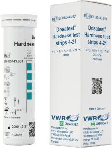 Hardness test strips 4 - 21 °d
