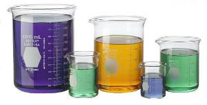Griffin beakers, low form, double scale, borosilicate glass, KIMAX®, KIMBLE®